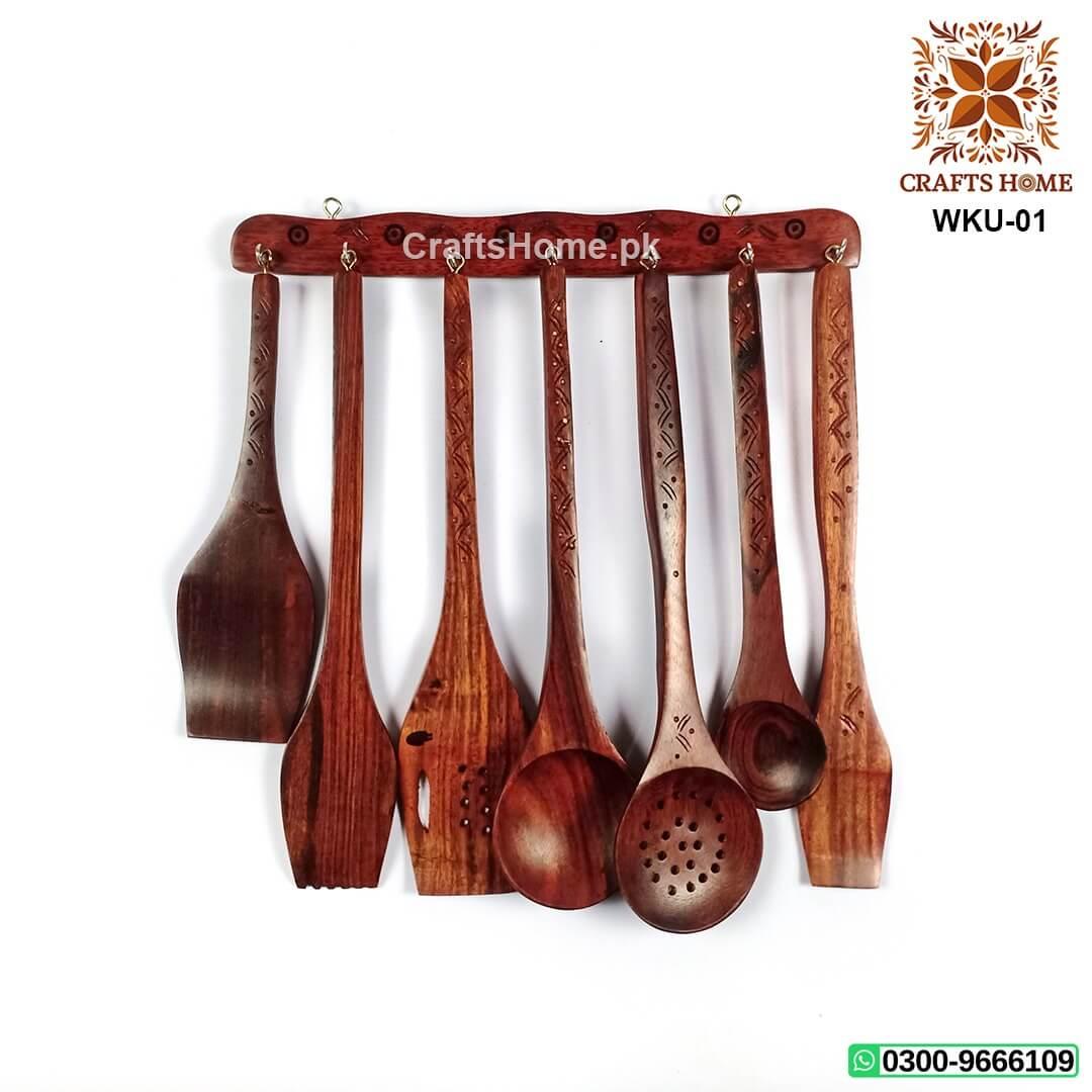 Kitchen Utensils Set Wooden Cooking Utensil Set Of 8 Pcs Crafts Home