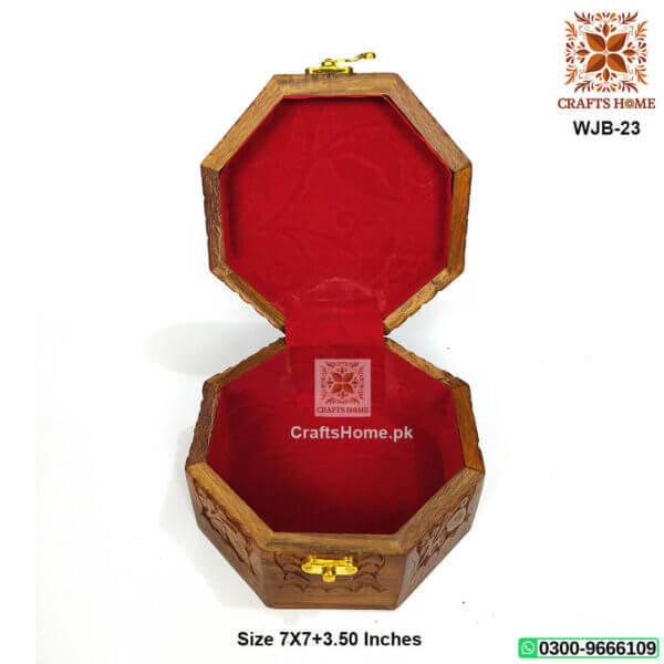 Octa Shape Jewlary Box Brass Work