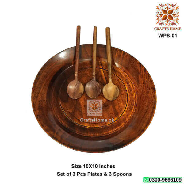 Wooden Plates Set 3 Pcs Best Dinnerware Set