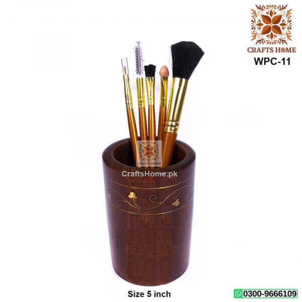 Pen Console Brass Work Multiple Purpose Organizer Pen Holder
