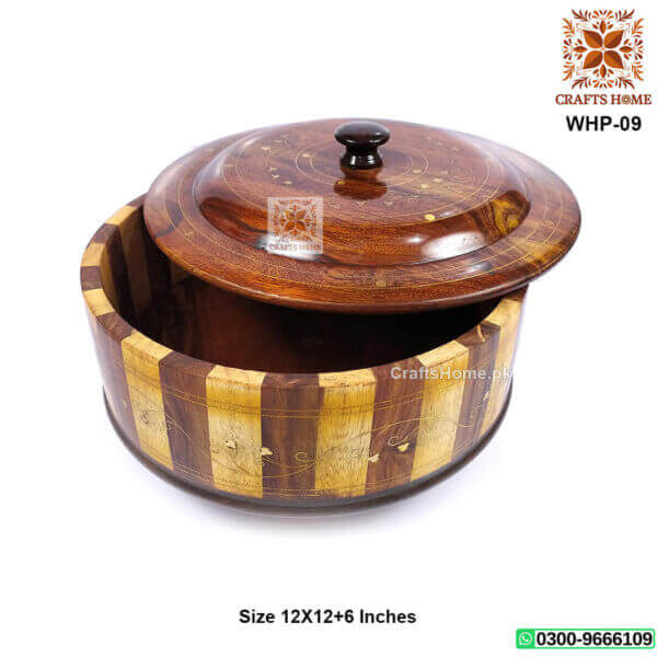 Wooden Hotpot Large Tukri with Stand