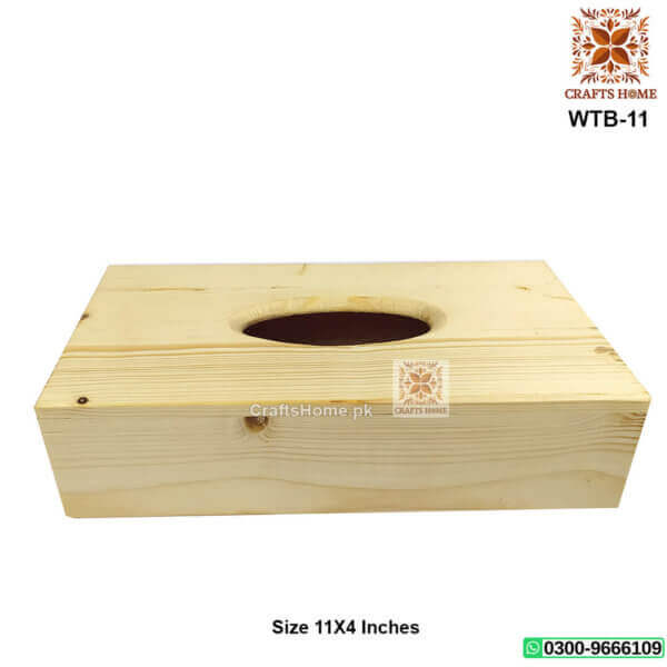 Wooden Tissue Box Wood Color